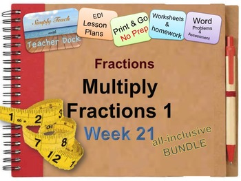 Week 21 Modeling Multiplication of Fractions 5th Grade Common Core Math EDI