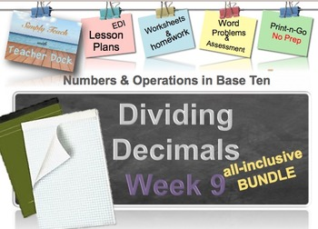 Week 9 Decimal Division 5th Grade Common Core Math EDI Lesson Plans