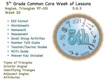 Week 20 Triangles 5th Grade Common Core Math EDI Lessons