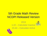 5th Grade Common Core Math End of Year Test Prep - Preview