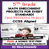 5th Grade Math Projects For Every Standard! Enrichment All-Year Bundle!