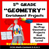 5th Grade Geometry Enrichment Projects, Vocabulary Handout