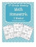 5th Grade Common Core Math Homework