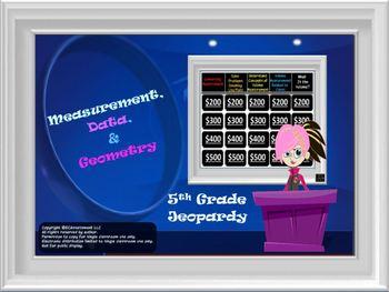 5th Grade Common Core Math Jeopardy Bundle