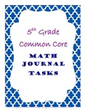 5th Grade Common Core Math Journal Tasks