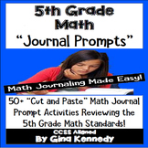 5th Grade Math Journal Prompts and Activities for Every Standard!