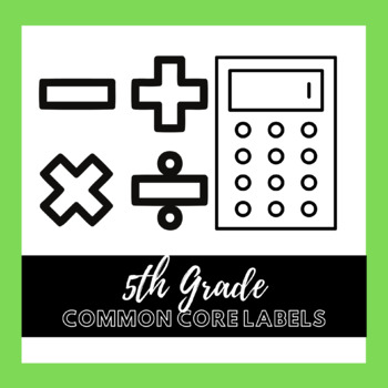 5th Grade Common Core Math Labels