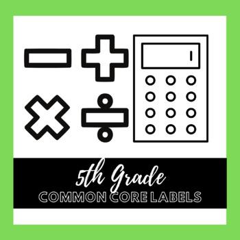 5th Grade Common Core Math Labels
