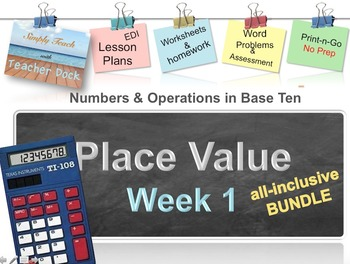 Week 1 Place Value 5th Grade Common Core Math Lessons (Revised)
