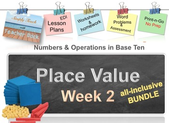 Week 2 Place Value 5th Grade Common Core Math Lessons: REVISED