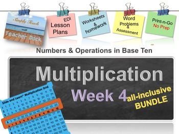 Week 4 Multiplication 5th Grade Common Core Math Lessons Revised