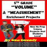 5th Grade Volume Math Projects, Plus Vocabulary