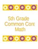 5th Grade Common Core Math Mastery Sheets