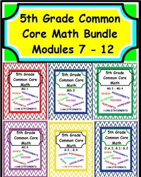 5th Grade Common Core Math - Modules 7-12