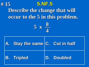 5th Grade Common Core Math Multiplication of Fractions as Scaling  5.NF.5