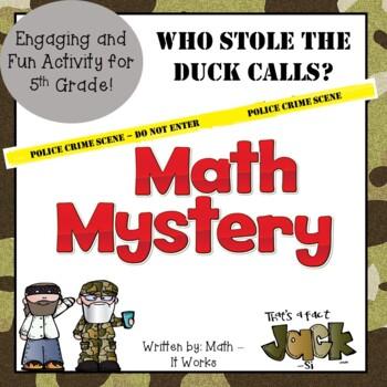 5th Grade Common Core Math Mystery