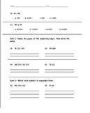 5th Grade Common Core Math - NBT.1, NBT.2, NBT.5, NBT.6