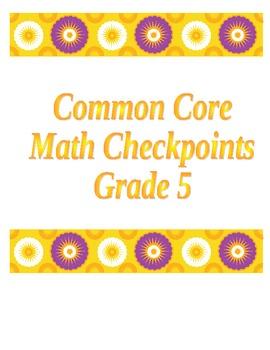 5th Grade Common Core Math  Place Value Checkpoints