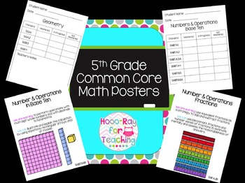 5th Grade Common Core Math Posters