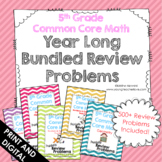 5th Grade Math Mixed Review or Homework (Common Core Aligned) THE ENTIRE YEAR