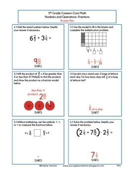 5th Grade Math Spiral Review 5th Grade Math Homework 5th Grade Morning Work