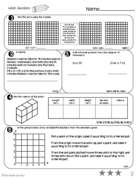 5th Grade Math Review: Weeks 13 - 16