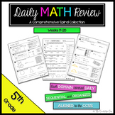 5th Grade Math Review: Weeks 17 - 20