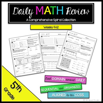 5th Grade Math Review: Weeks 9 - 12