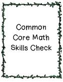 5th Grade Common Core Math Skills Checks