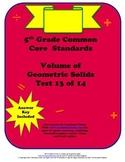 5th Grade Common Core Math Standards Volume Test