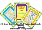 5th Grade  Math Student Book Bundled Set: Fractions, Decimals, More!