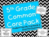 5th Grade Common Core Math Student-Friendly Standards & Essential Questions Pack