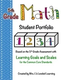 5th Grade Common Core Math Student Portfolio with Marzano Scales!