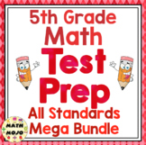 5th Grade Math Test Prep: All Standards Mega Bundle