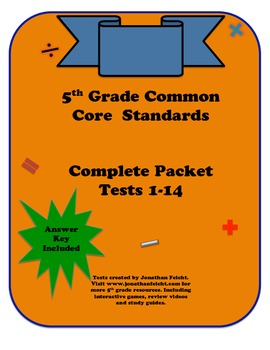 5th Grade Common Core Math Tests (All Standards)