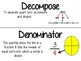 5th Grade Common Core Math Word Wall & Vocabulary Cards