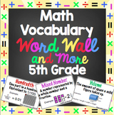 Math Word Wall - 5th Grade