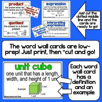 Math Word Wall - 5th Grade