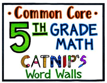 5th Grade Common Core Math Word Wall