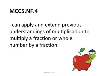 5th Grade Common Core Math for Posting Student Friendly Apple Theme