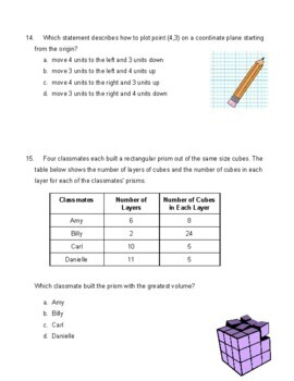 5th Grade Common Core Mathematics Final Assessment