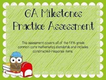 TEST PREP: 5th Grade Common Core Mathematics practice test {GA Milestones}