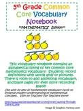 5th Grade Common Core Mathematics Vocabulary Journal