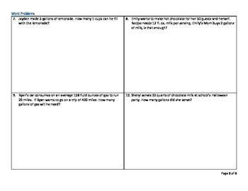 5th Grade Common Core Measurement and Data Test Prep Sample