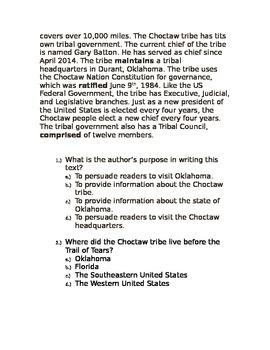 5th Grade Common Core Nonfiction Reading Comprehension Practice