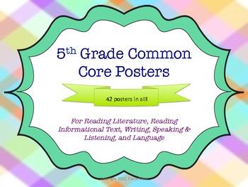 5th Grade Common Core Posters