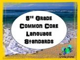 5th Grade Common Core Posters Language Standards