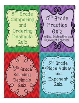 5th Grade Common Core Quiz Bundle