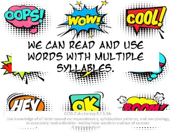 5th Grade Common Core-Reading Foundations Comic Book Style