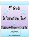 5th Grade Common Core Reading Informational Text Organizers with QR Codes
